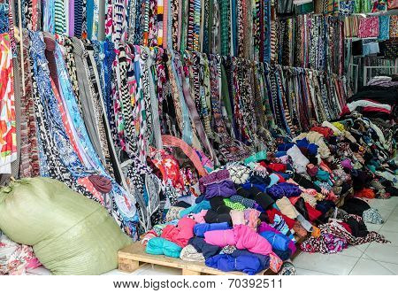 Colorful Cloth shop, Ho Chi Minh city, Vietnam
