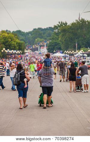 Family At Iowa State Fair