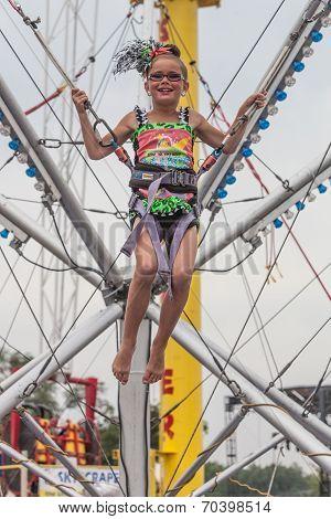 Girls Jumping At State Fair