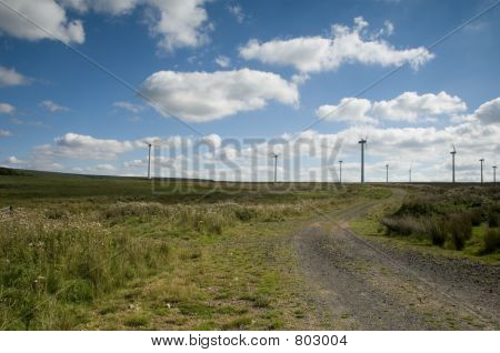 Wind farm Borders Scotland