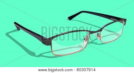 Reading Glasses on Green