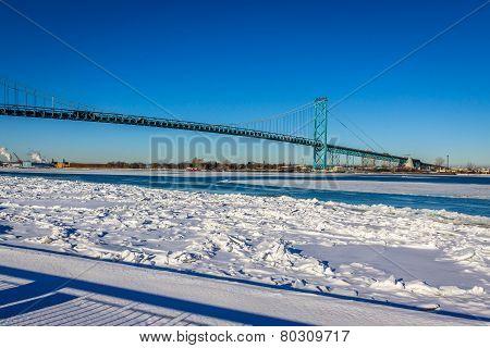 Blue Skies Over Ambassador Bridge