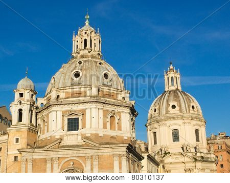 Twin Churches, Rome, Italy