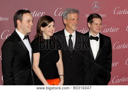 PALM SPRINGS, CA - JAN 3: Ido Ostrowsky, Nora Grossman, William Goldenberg & Graham Moore arrive at the Palm Springs Film Festival Gala on January 3, 2015 in Palm Springs, CA.