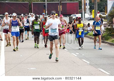 Runners Competing In 2014 Comrades Marathon Road Race