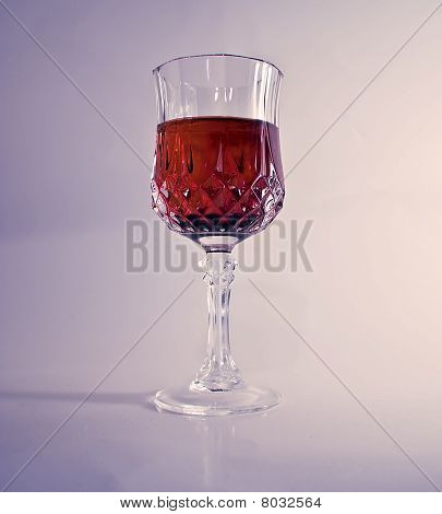 Glass With Red