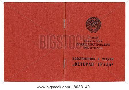 Certificate Veteran of Labor