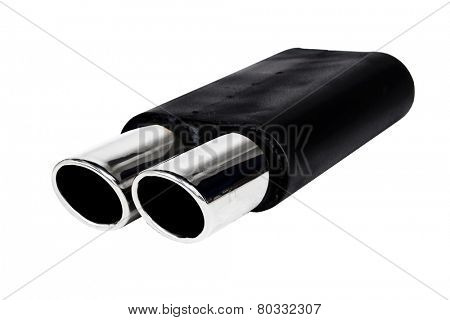 Black painted stainless steel performance exhaust system
