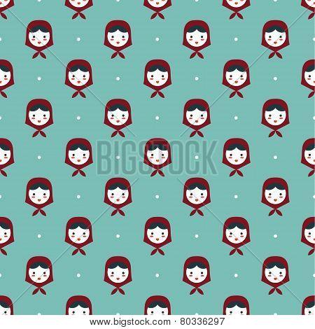 russian doll matreshka seamless pattern