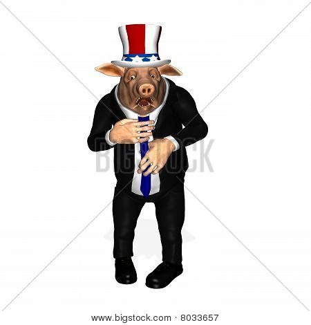 Congressional Pork - Adjusting Tie