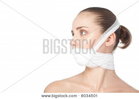 Woman After Plastic Surgery