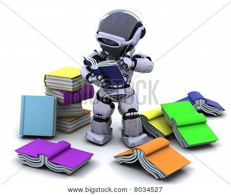 Roboter mit Büchern
