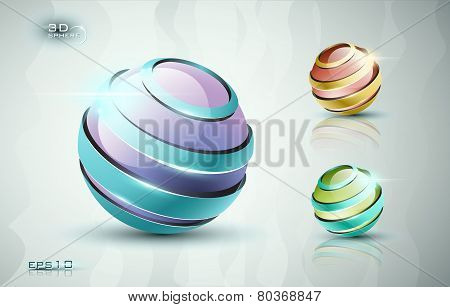 3d sphere icons