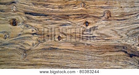 Closeup of a Hickory Board