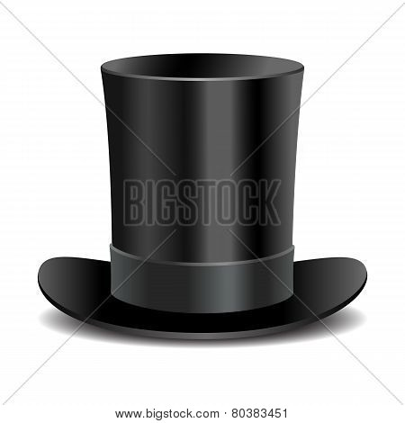 Cylinder black gentleman hat