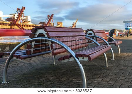 Benches Made Of Metal And Wood