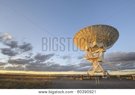 Radio Telescope Pointing to Space