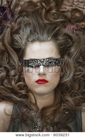 Fashion Woman With Blindfold