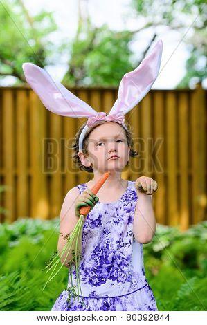 Little Girl In Bunny Ears