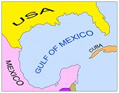 Map of the Gulf of Mexico. May be used for any purposes poster