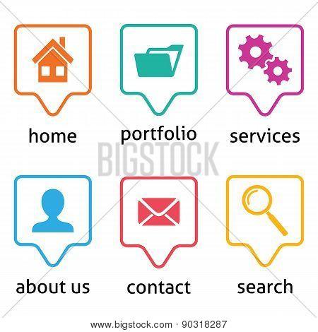 Vector Website Menu Icons