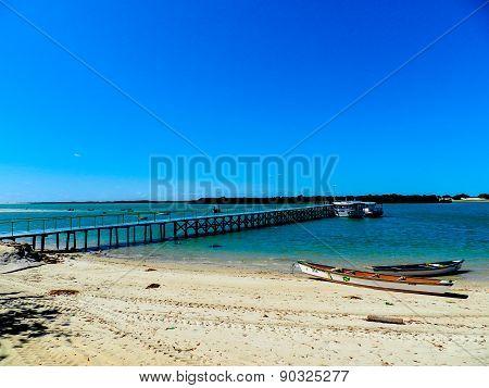 Little port in a fishing village in Brazil