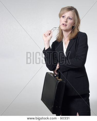 Lady Lawyer Holding Glasses