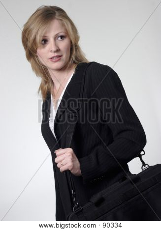 Lady Lawyer Holding Briefcase