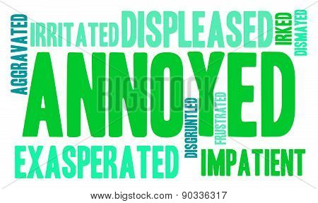 Annoyed Word Cloud