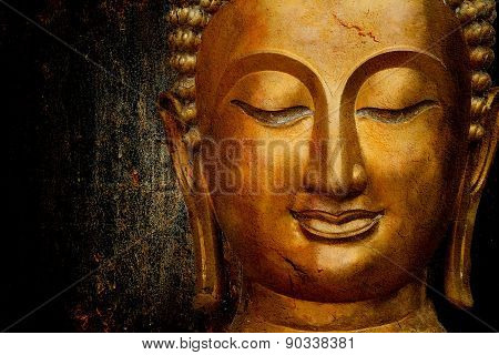 Statue Of Buddha Space For Your Text