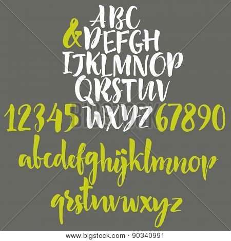 Vector alphabet. Hand drawn letters. Handwritten letters of the alphabet