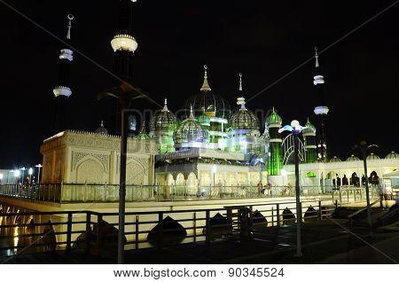 The Crystal Mosque or Masjid Kristal in Kuala Terengganu, Terengganu, Malaysia.