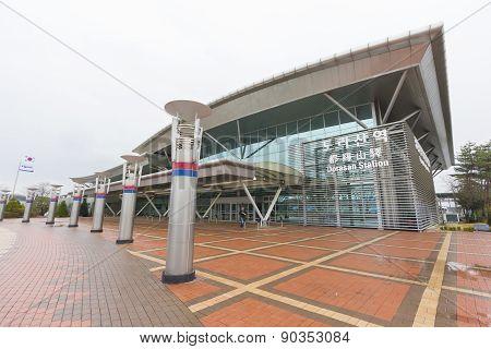 Dorasan Railway Station In Dmz, South Korea.