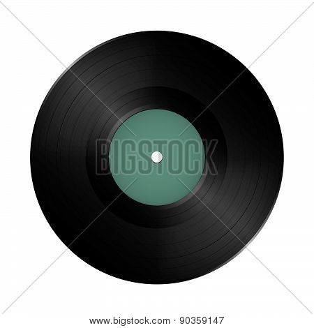 Long play vinyl record disc