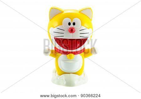 Yellow Doraemon a robot cat