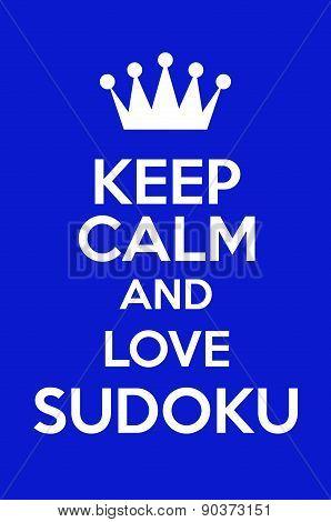 Keep Calm And Love Sudoku