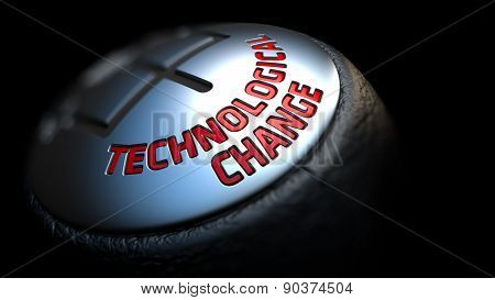 Technological Change on Black Gear Shifter.