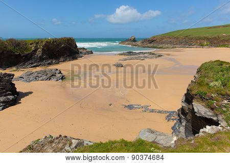 Trevone Bay North Cornwall England UK near Padstow and Newquay and on the South West Coast Path in s