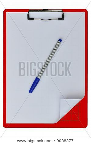 Red Color Writing Boards With Blue Pen
