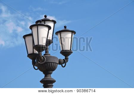 Streetlamp. Bari. Puglia. Italy.