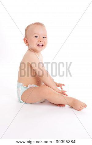 Portrait Of Happy Little Baby Boy