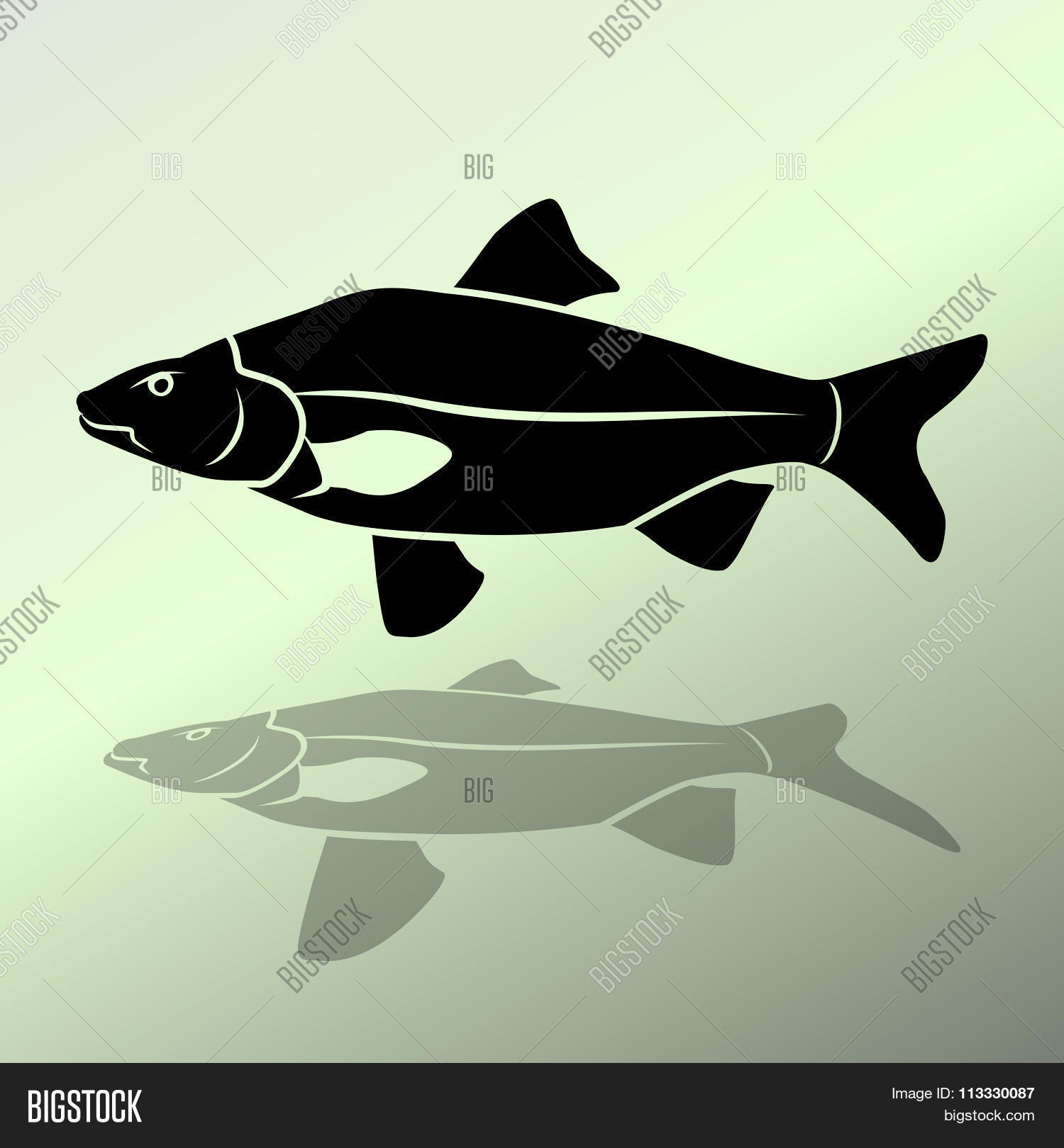 Fish Icon. Food Vector & Photo (Free Trial) | Bigstock
