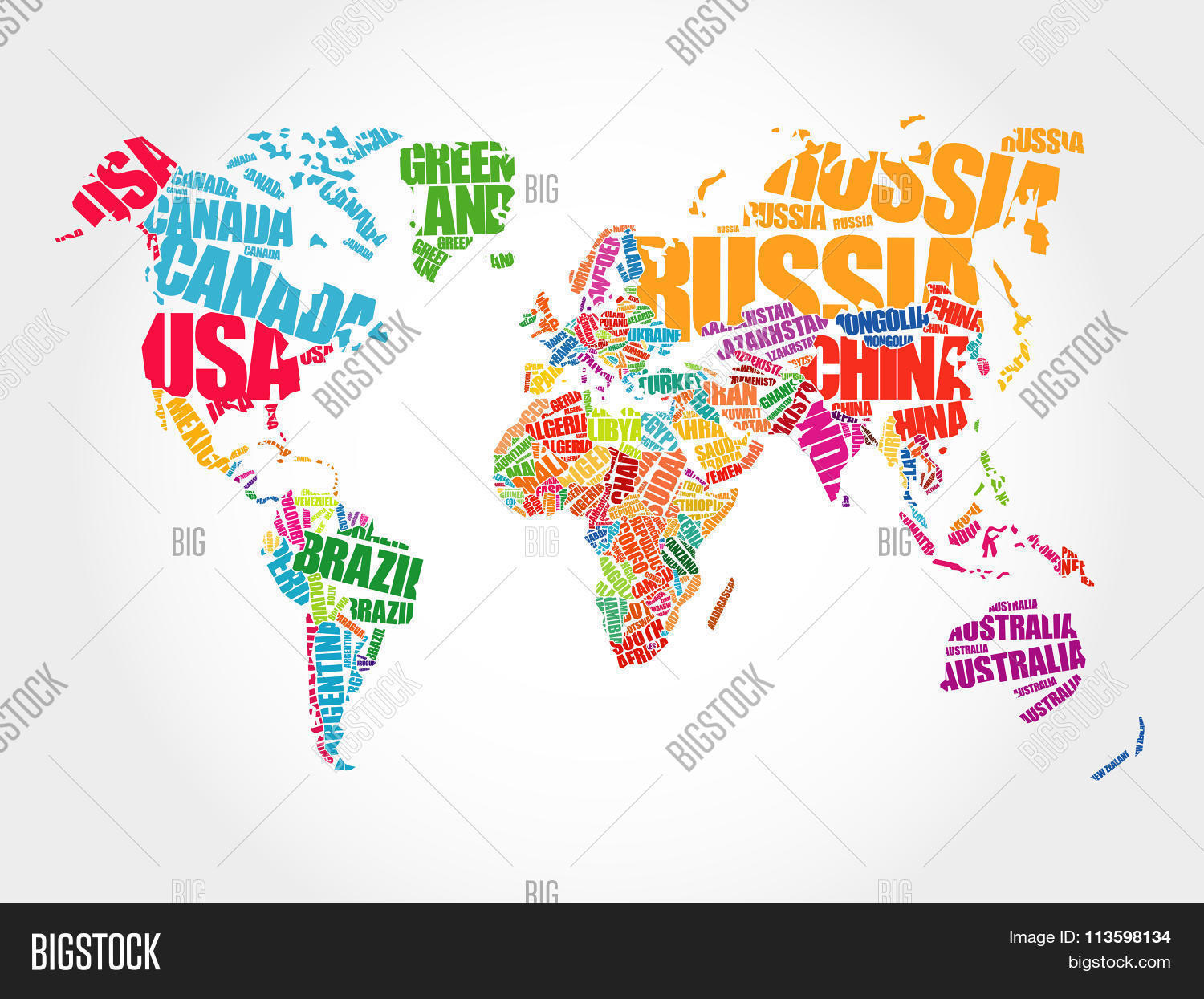 World map typography vector photo free trial bigstock world map in typography word cloud gumiabroncs Image collections