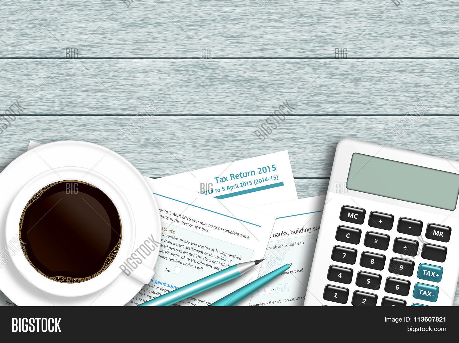 Uk Tax Form Calculator Image Photo Free Trial Bigstock