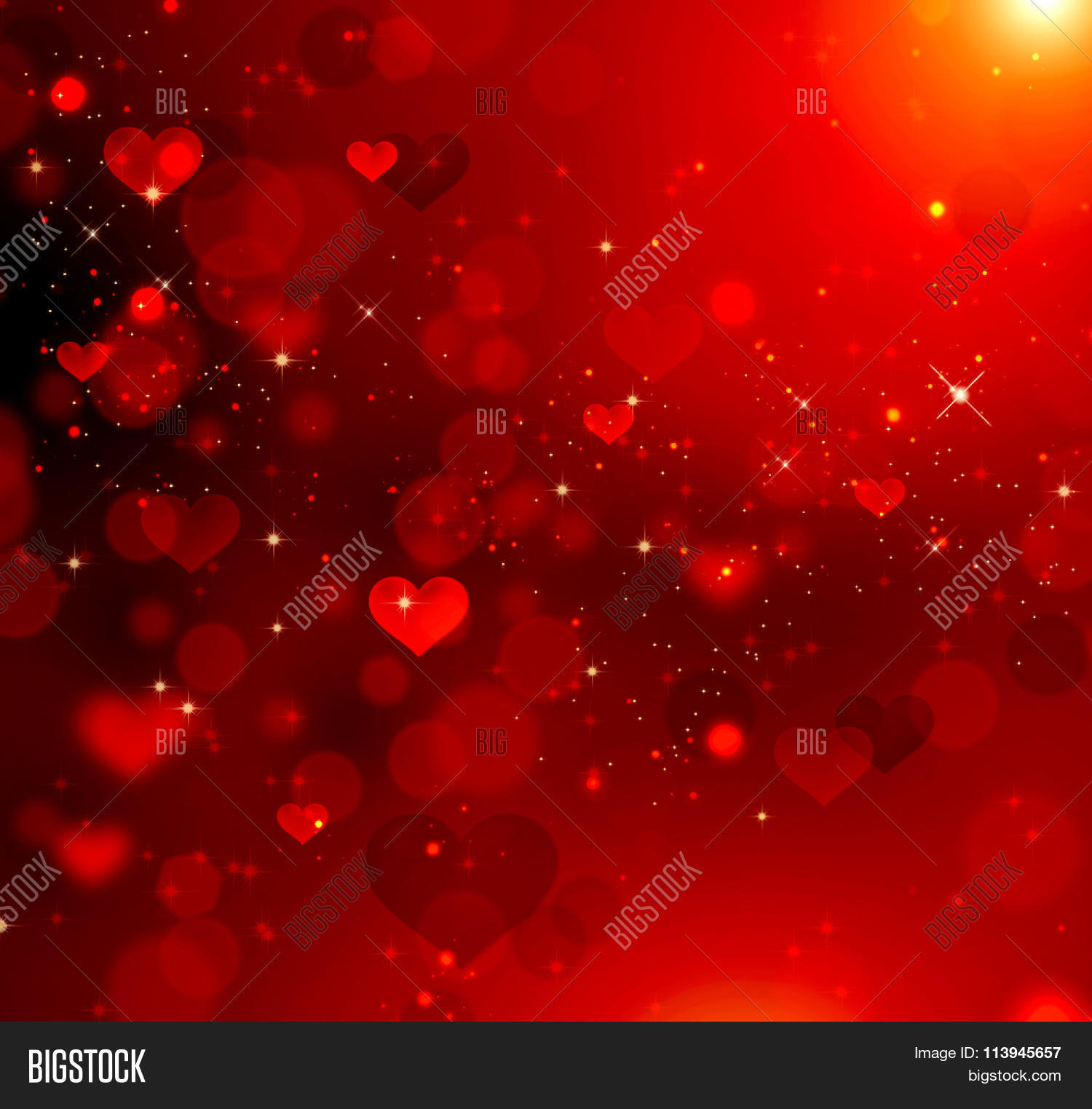 Valentines Day Wallpaper: Valentine Hearts Abstract Red Image & Photo