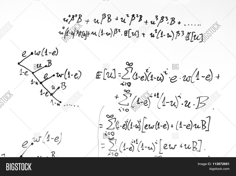 Complex Math Formulas Image Photo Free Trial Bigstock