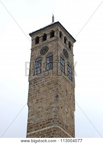 Watch tower detail in Sarajevo the capital city of Bosnia and Herzegovina poster