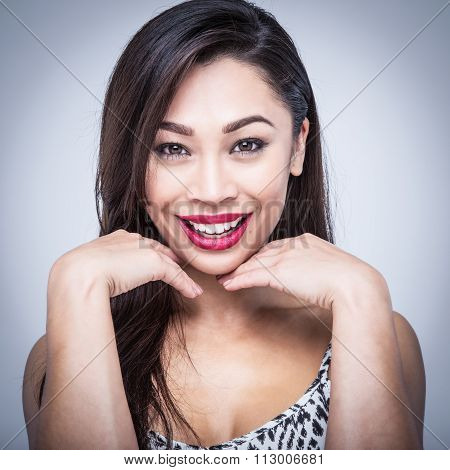 Mixed Race Beauty Laughing