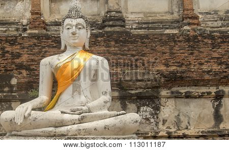 Old Buddha Image In Thailand