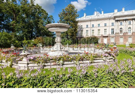 View In The Catherine Park Near The Cameron Gallery In Pushkin (tsarskoe Selo), Russia
